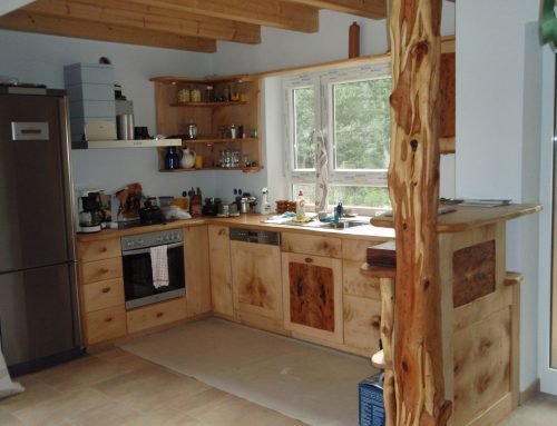 Küche Ahorn mit Eibensäule