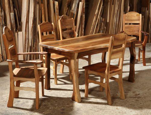 Tisch mit Stühlen Elsbeere